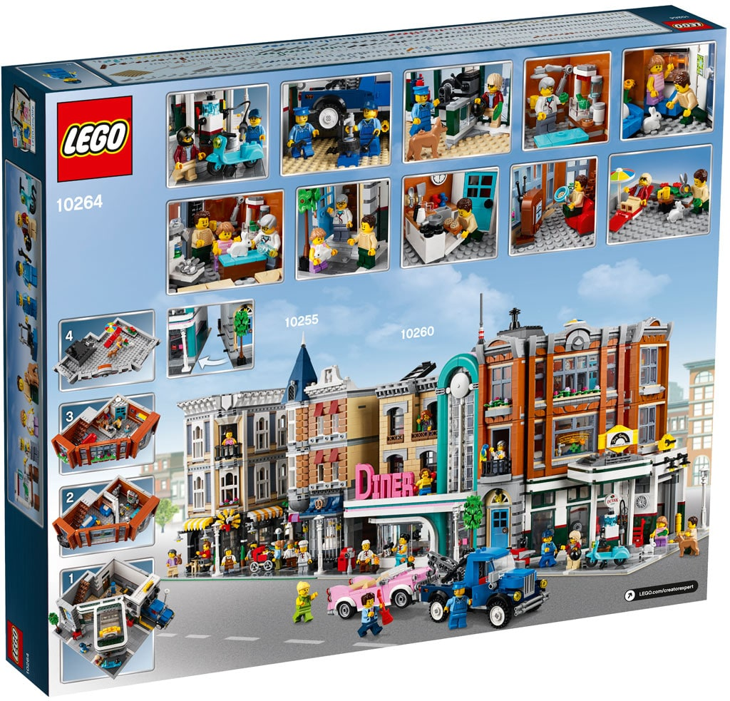 LEGO 10264 Eckgarage Modular Building Box Hinten