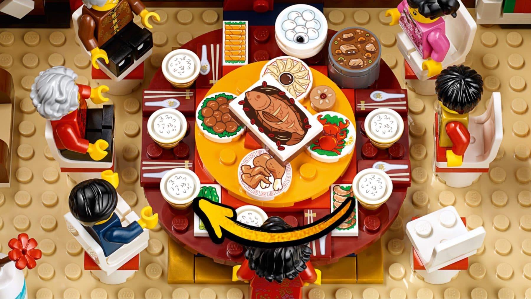 LEGO 80101 Chinese New Years Eve Dinner: Drehbarer Tisch