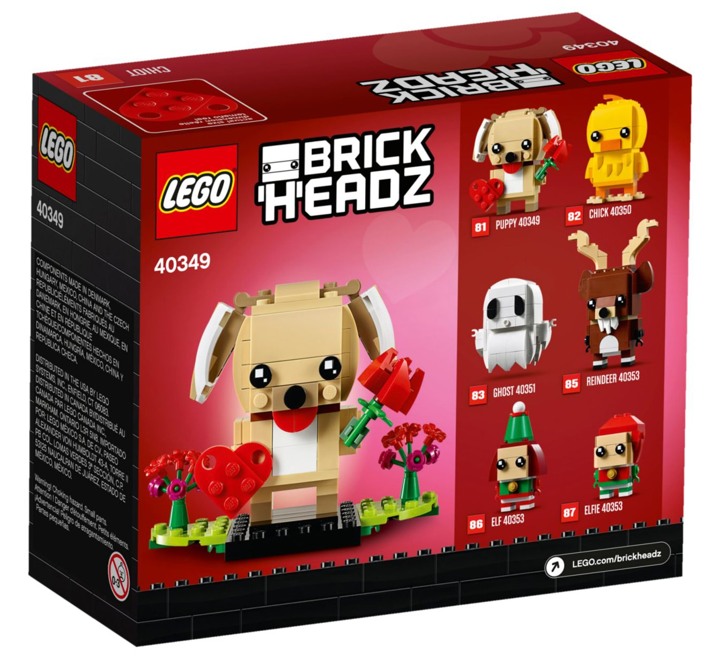 LEGO BrickHeadz 40349 Valentistags-Welpe