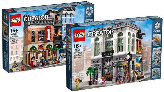 LEGO Creator Expert Steinebank und Detektivbüro