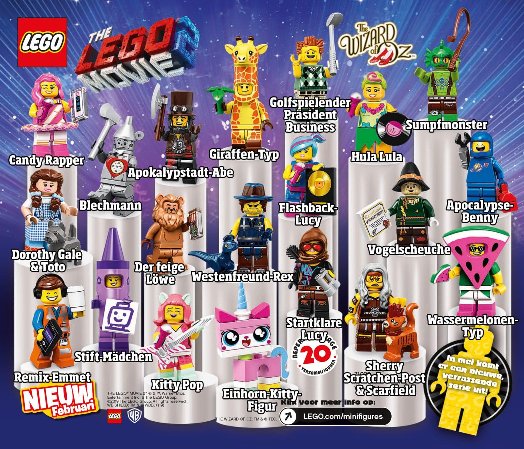 LEGO 71023 Minifiguren Namen