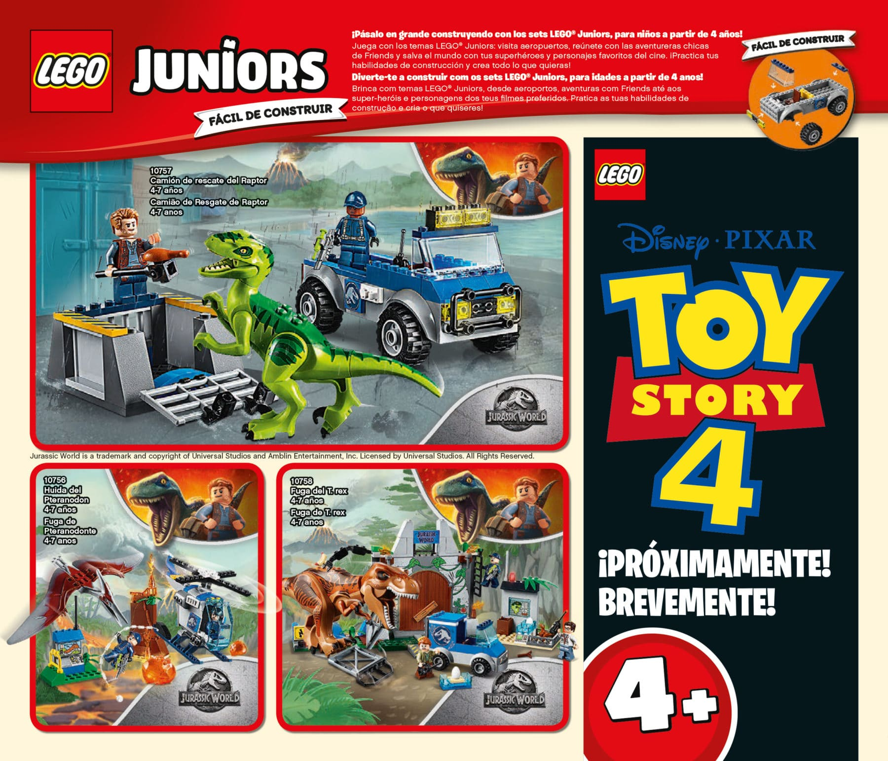 LEGO Toy Story 4 Juniors Sets