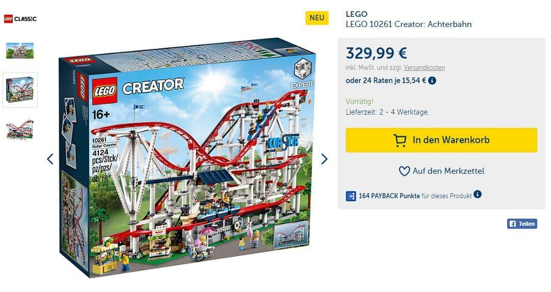 LEGO 10261 Achterbahn bei MyToys