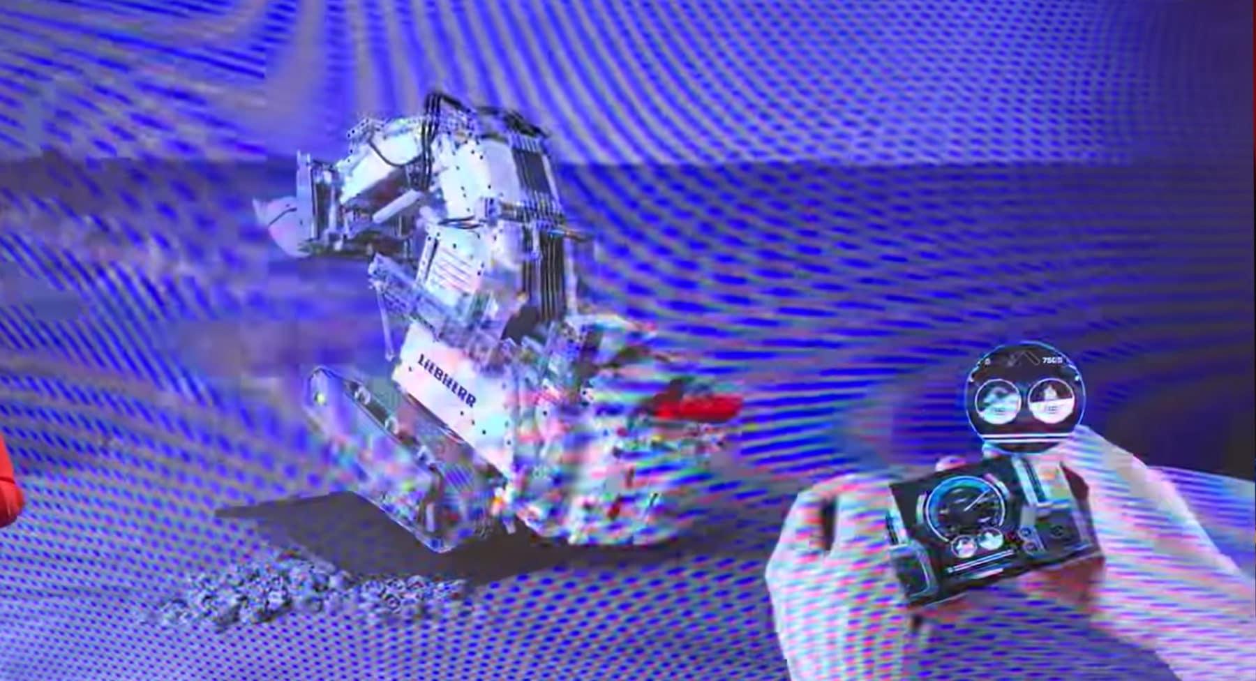 LEGO 42100 Liebherr R 9800 Bagger Steigung