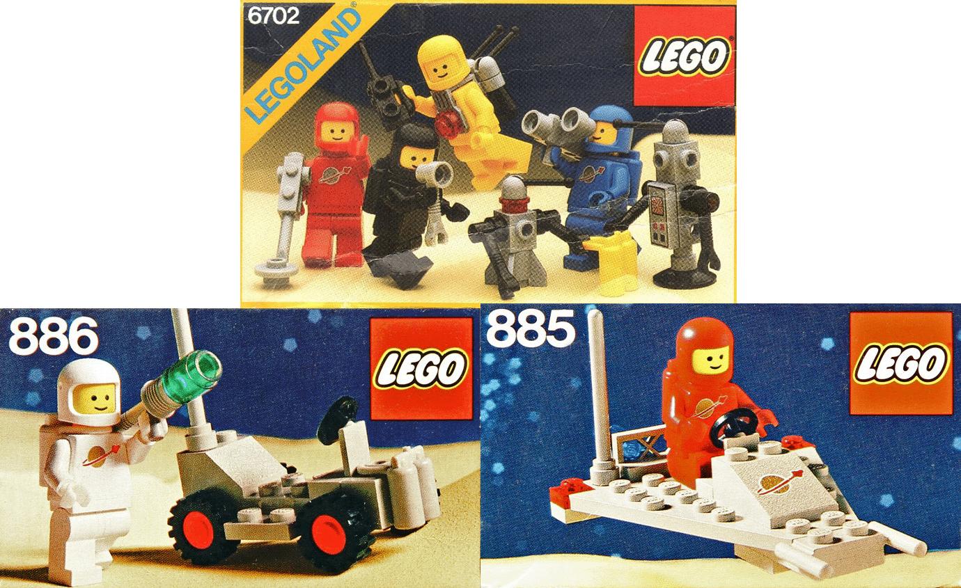 Drei LEGO Classic Space Sets: 6702, 885 und 886