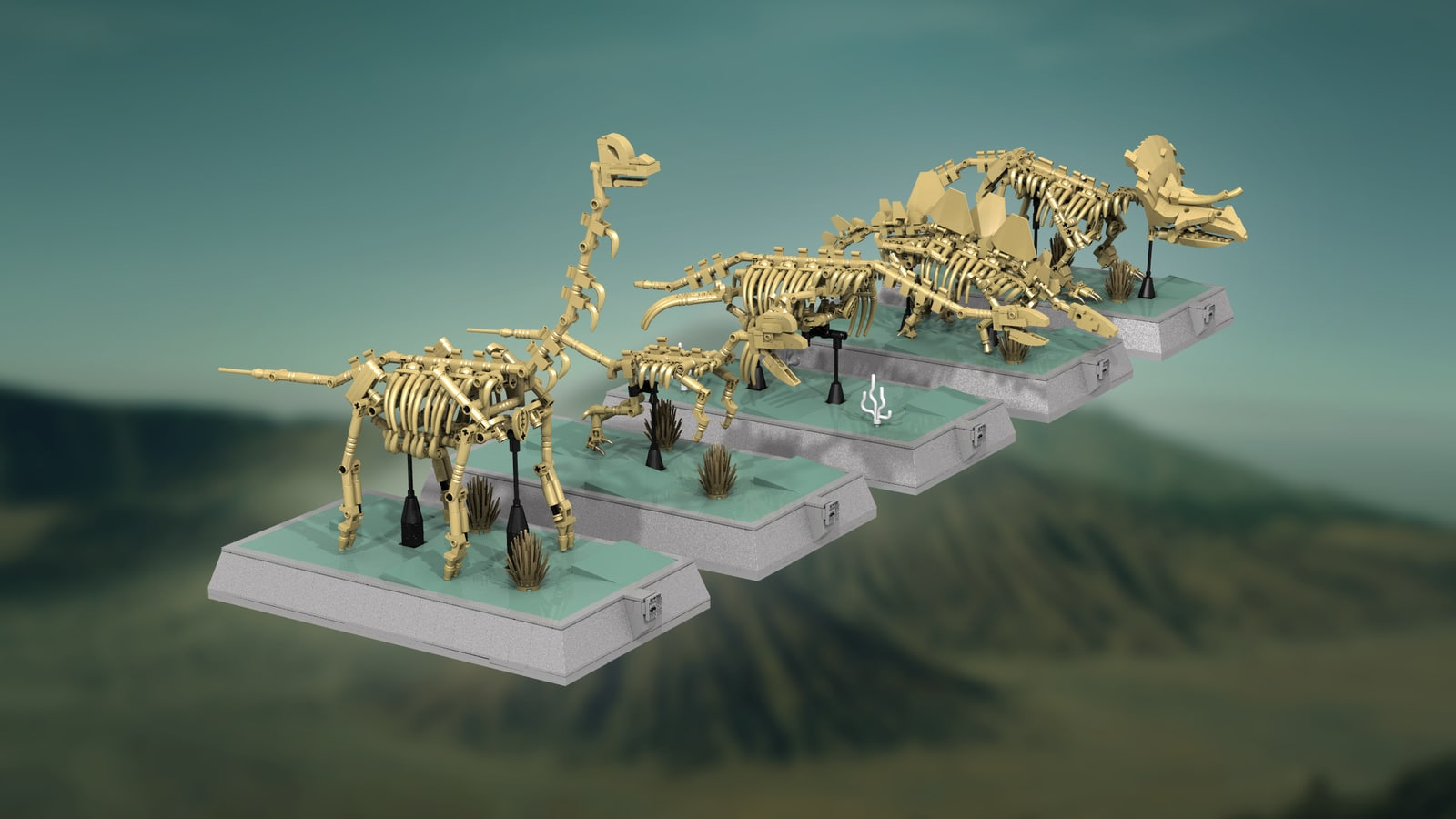 LEGO Ideas Fossile Dinosaurier-Skelette