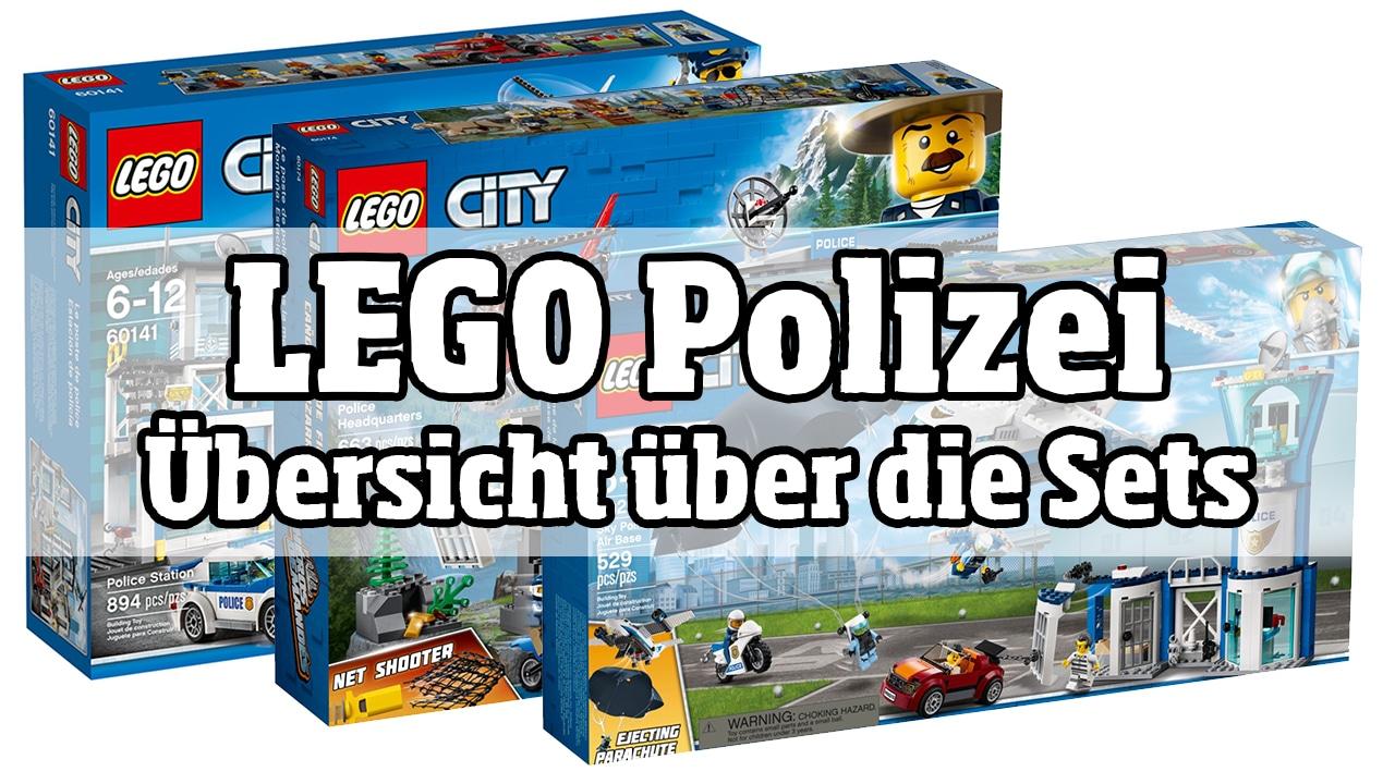 LEGO Polizei: Übersicht über die Polizeistationen von LEGO