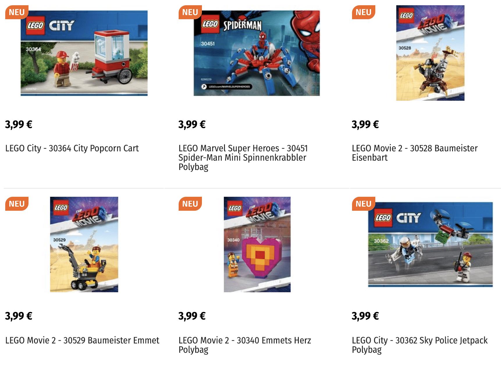 LEGO Polybags von 2019 bei Müller
