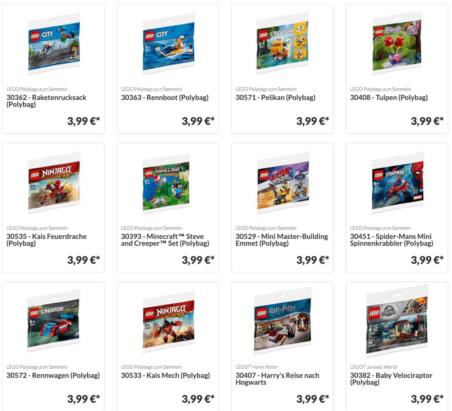 LEGO Polybags von 2019 bei JB-Spielwaren
