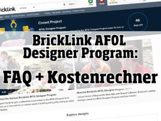 BrickLink AFOL Designer Programm FAQ + Kostenrechner