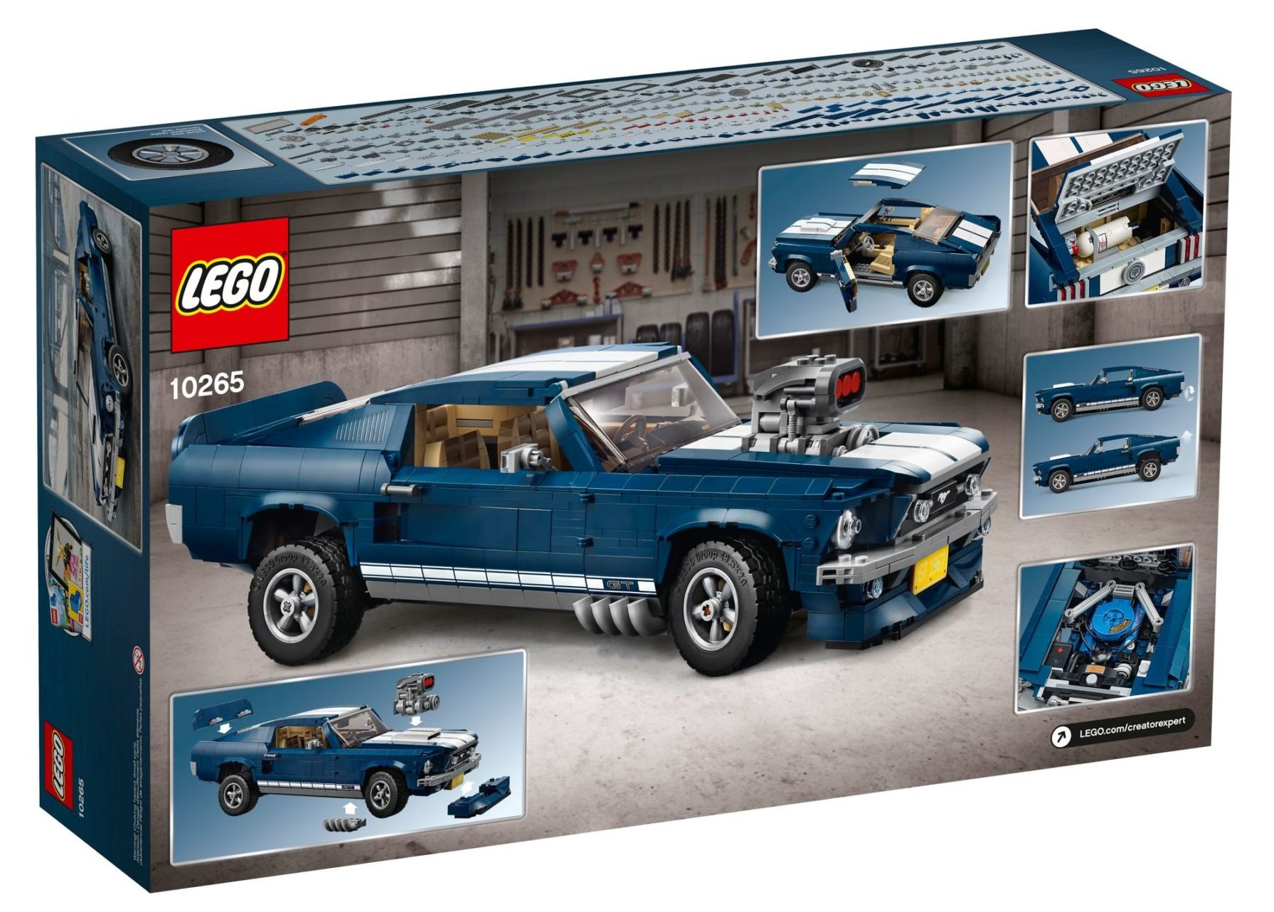 LEGO 10265 Ford Mustang GT Box Rückseite