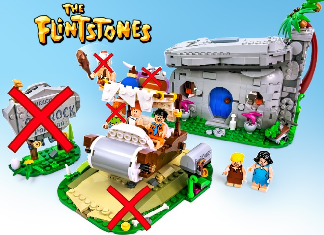 LEGO 21316 The Flintstones vs. Entwurf