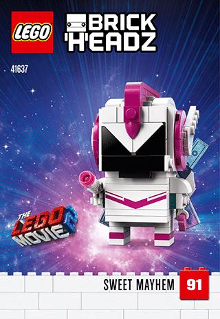 LEGO 41636 Benny BrickHeadzLEGO 41637 Sweet Mayhem BrickHeadz