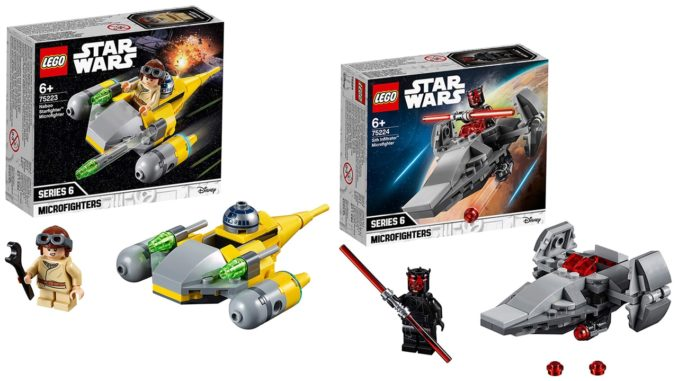 LEGO Microfighters 2019 im Angebot: Naboo Fighter und Sith Infiltrator