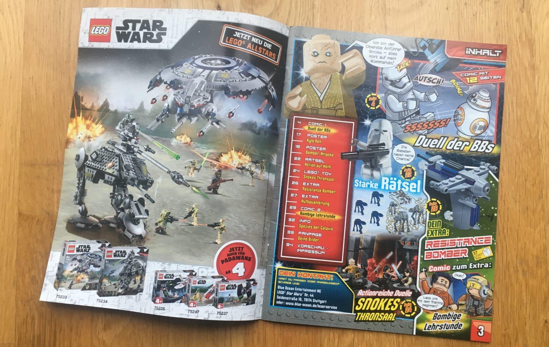 LEGO Star Wars Magazin #44 Inhaltsverzeichnis
