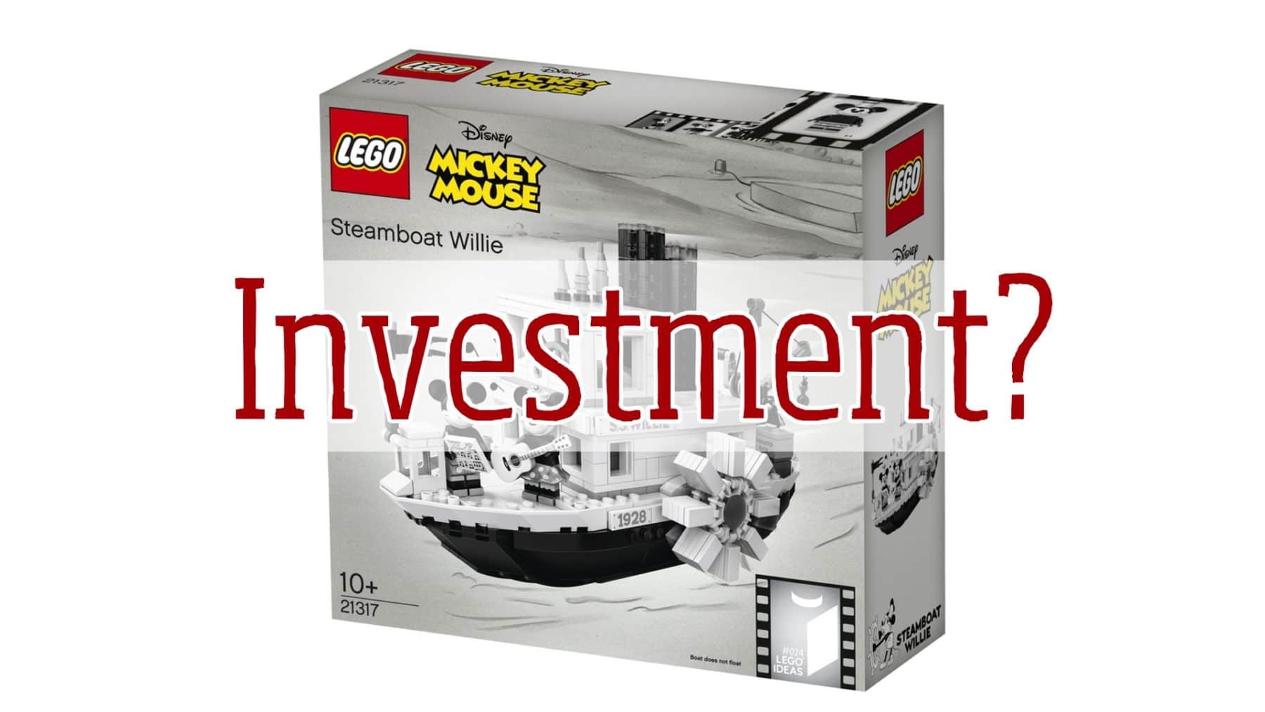 Erste Auflage Von Lego Ideas 21317 Steamboat Willie Mit Erhöhtem