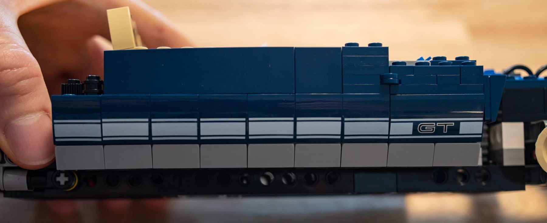LEGO 10265 Ford Mustang schief bedruckt