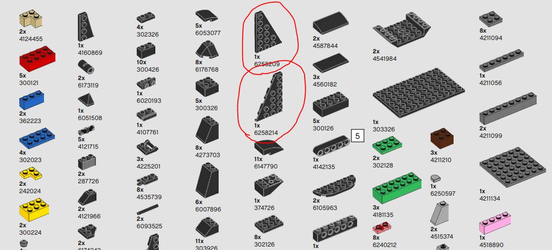 LEGO 75227 Anleitung Teile