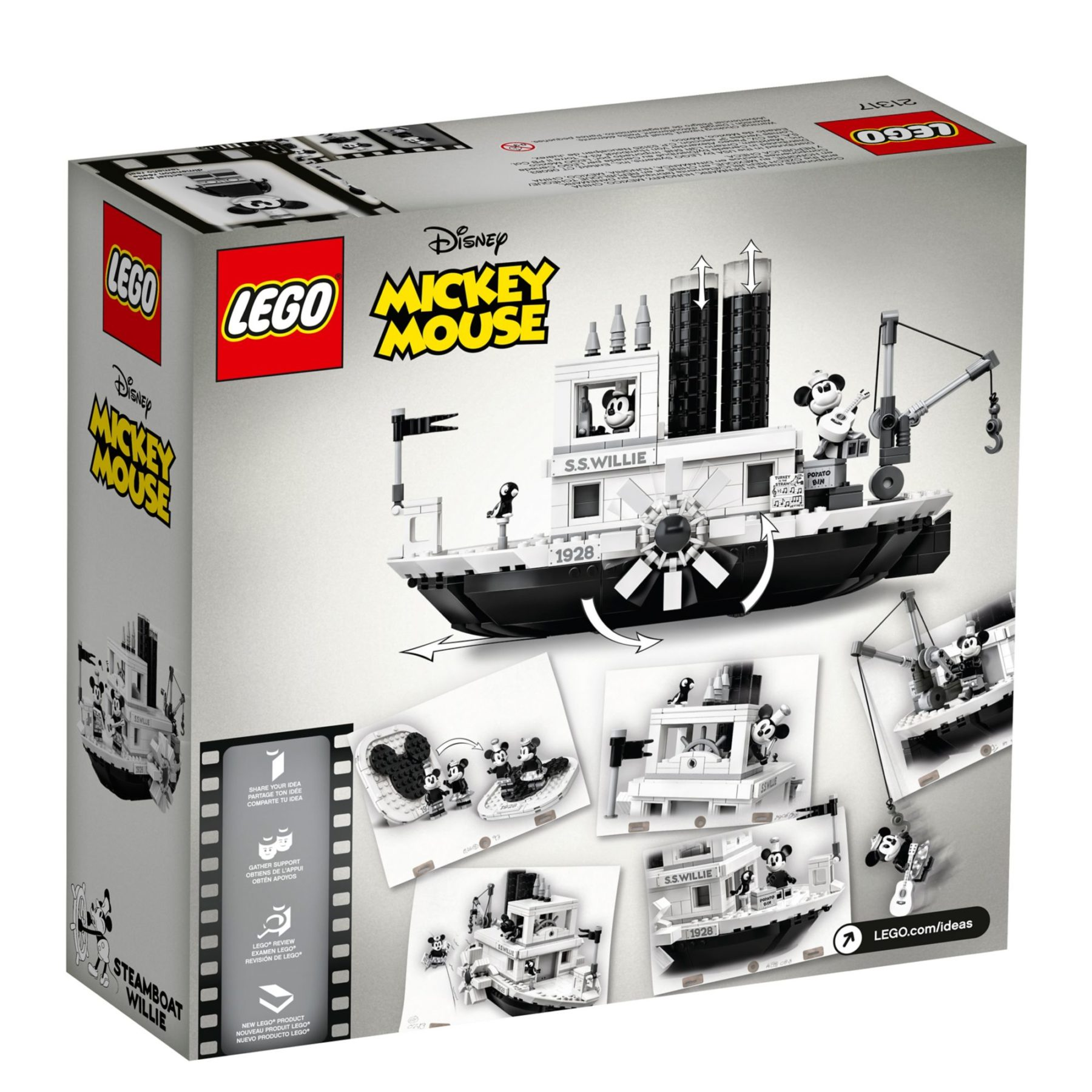 LEGO Ideas 21317 Steamboat Willie Box