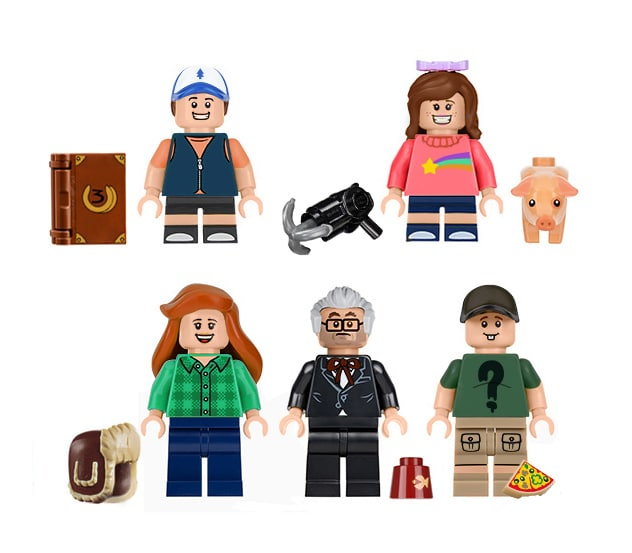 LEGO Ideas Mystery Shack Minifiguren