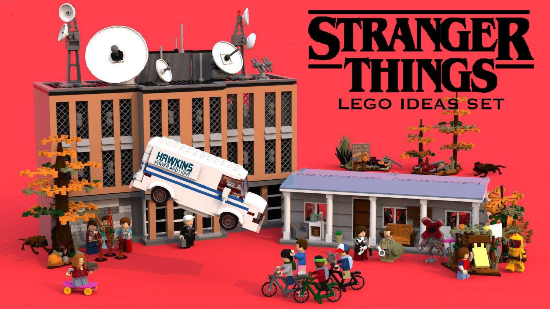 LEGO Ideas Stranger Things Entwurf