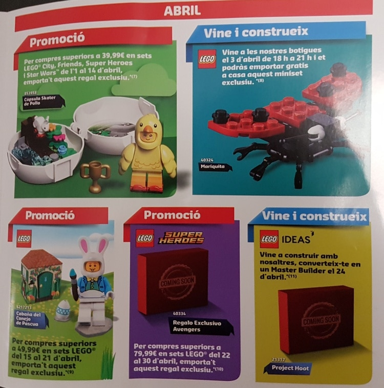 LEGO Store Flyer April 2019