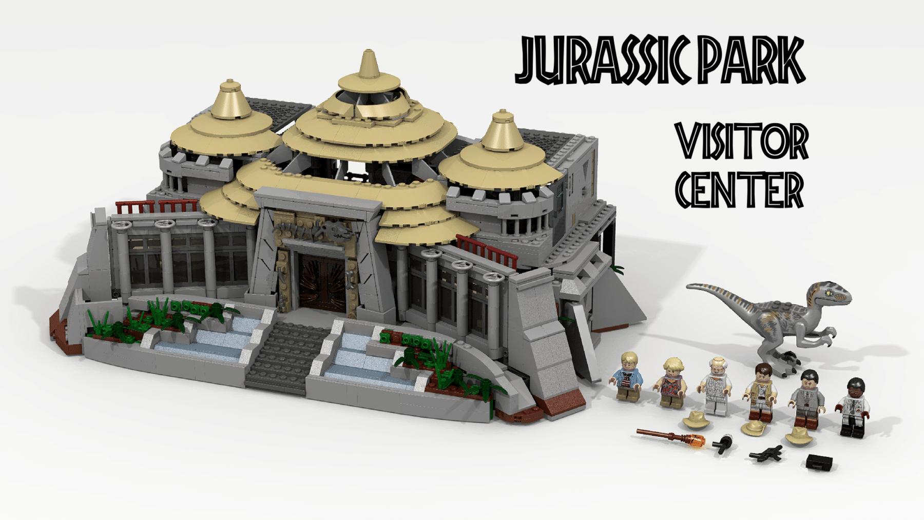 LEGO Ideas Entwurf: Jurassic Park Besucherzentrum