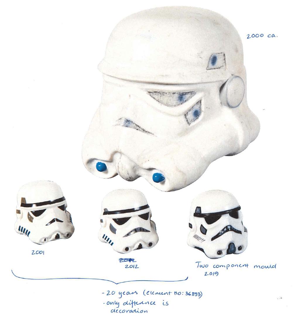 LEGO Star Wars Stormtrooper Helm Prototypen