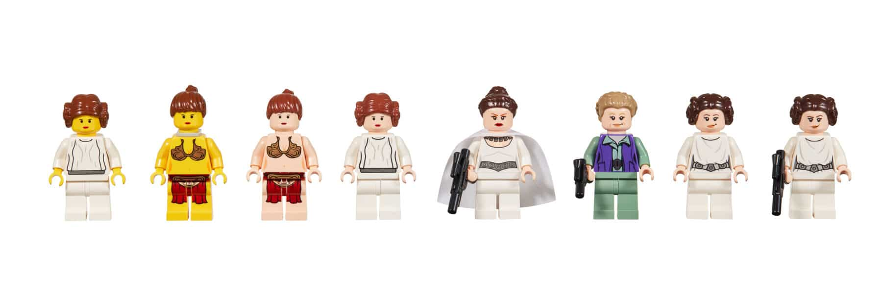 LEGO Star Wars Leia Minifigur Evolution