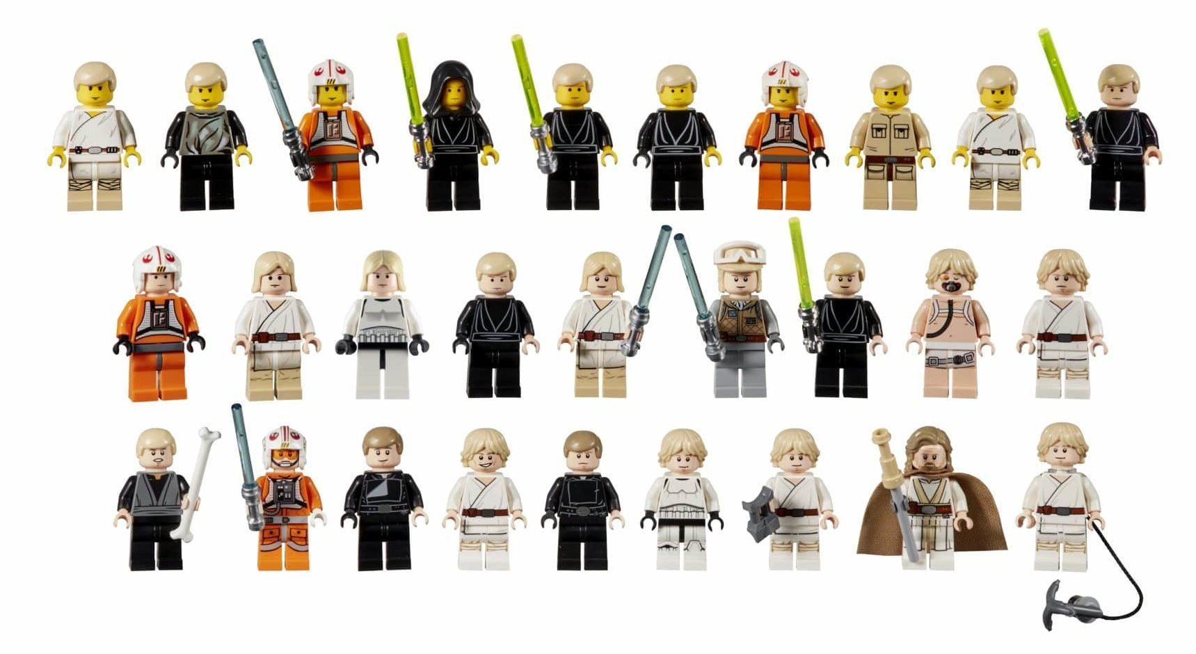 LEGO Star Wars Luke Skywalker Minifigur Evolution