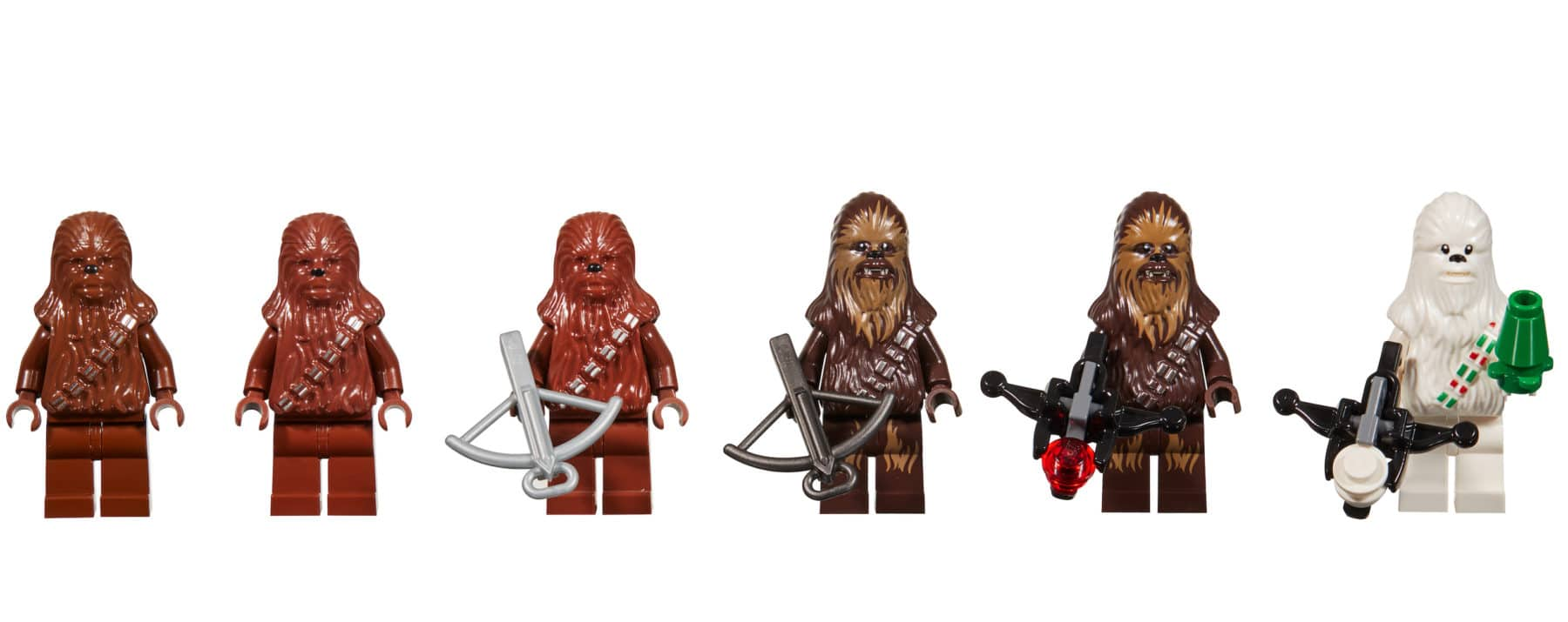 LEGO Star Wars Chewbacca Minifigur Evolution
