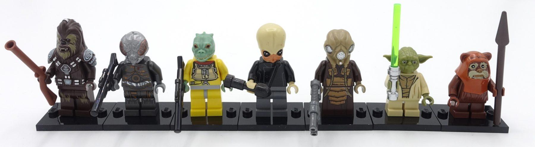 Verschiedene Köpfe bei LEGO Star Wars Minifiguren