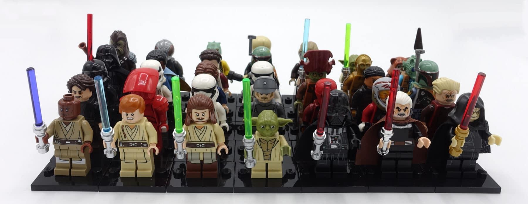 Eine Auswahl einiger LEGO Star Wars Minifiguren