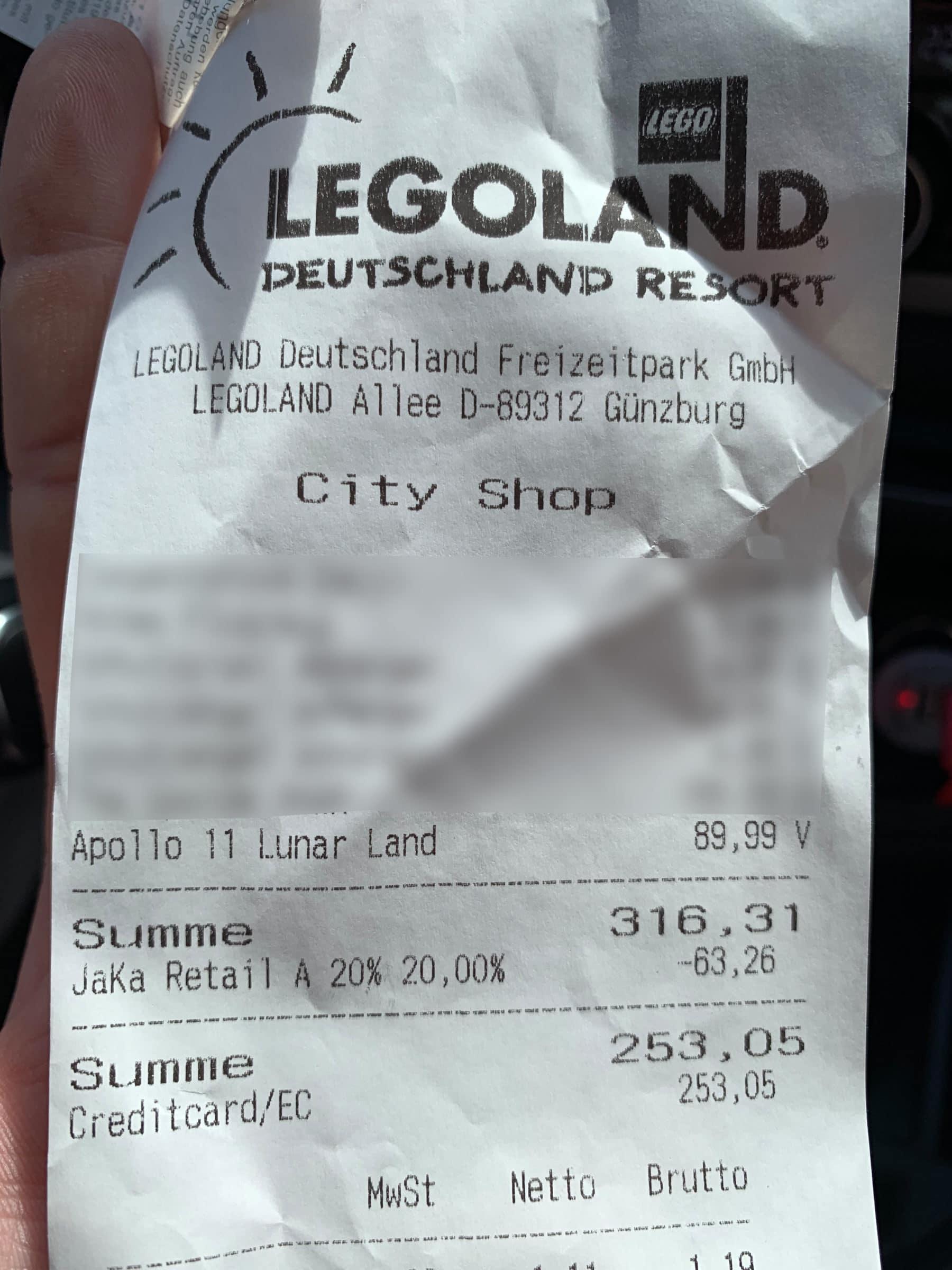 LEGO 10266 Lunar Lander Kassenzettel