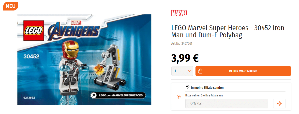 LEGO 30452 Polybag bei Müller