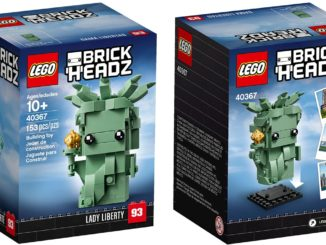 LEGO 40367 Lady Liberty BrickHeadz Box