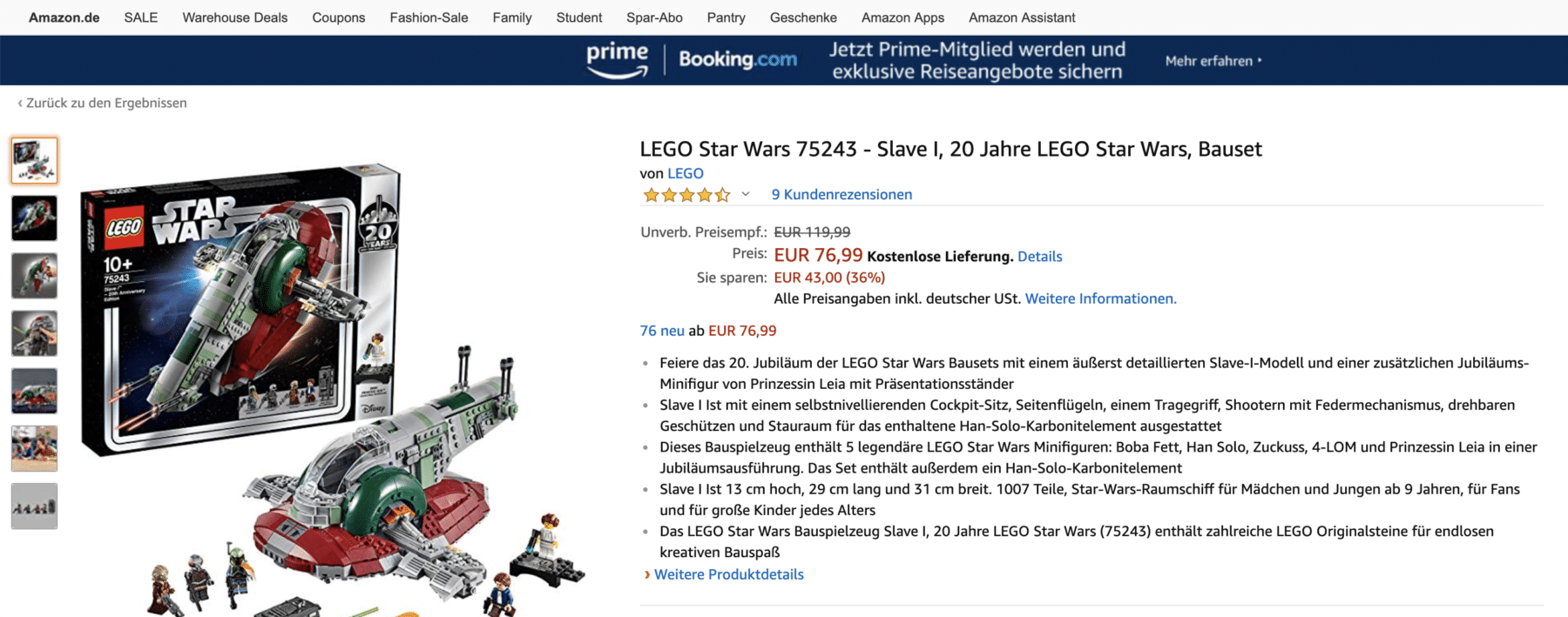 LEGO 75243 Slave 1 Angebot