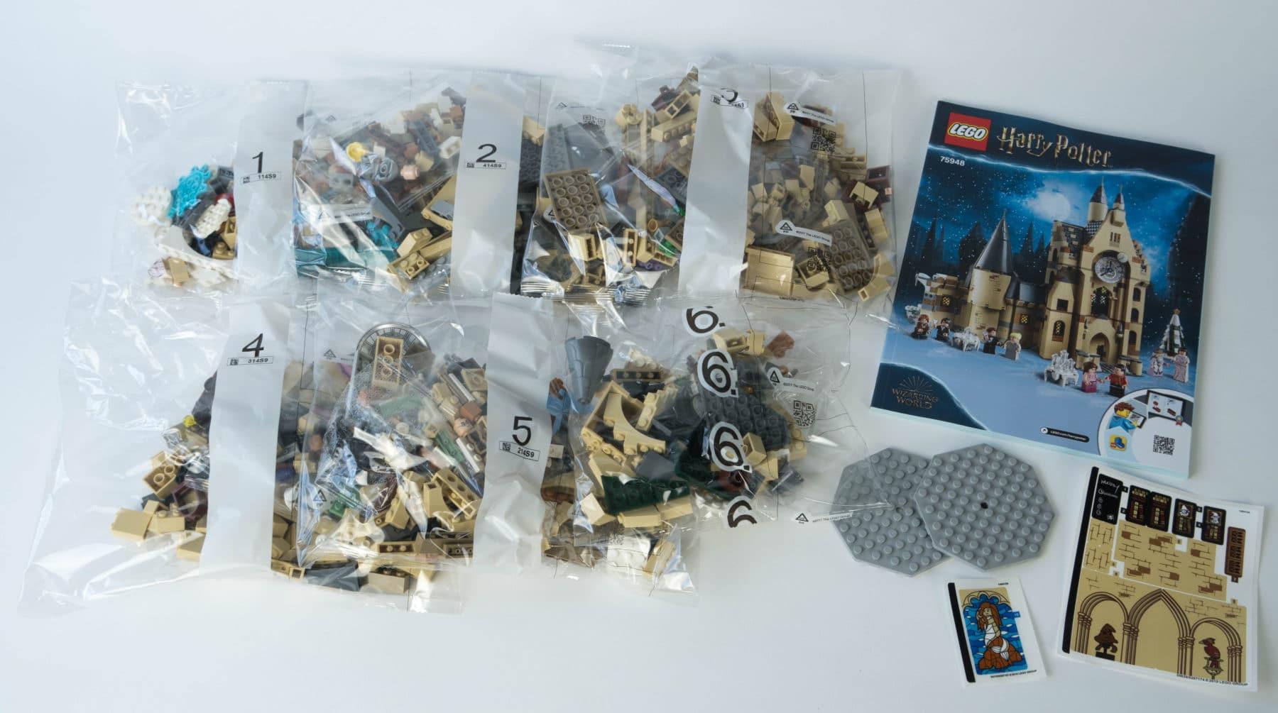 LEGO Harry Potter 75948 Inhalt und Tüten