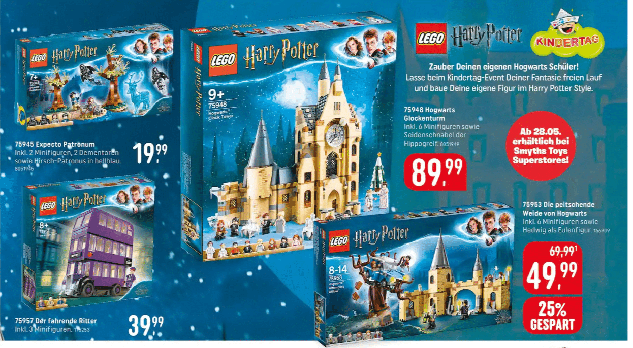 LEGO Harry Potter 2019 bei Smyths Toys