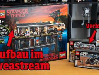 LEGO Stranger Things 75810 Aufbau im Livestream