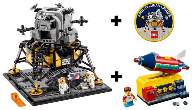 LEGO 10266 Mondlandefähre mit Gratisartikeln