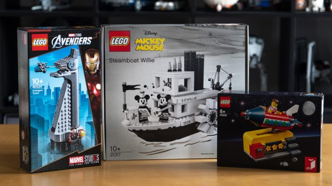 LEGO 21317 Steamboat Willie plus Gratisartikel
