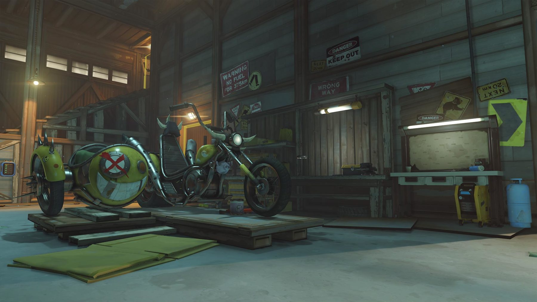 Screenshot aus Overwatch: Junkertwon Bike
