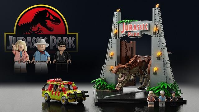 LEGO Ideas Jurassic Park Tor Entwurf