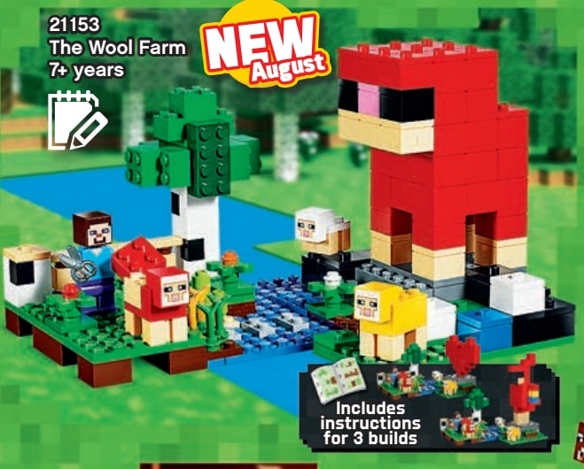 LEOG Minecraft 21153 The Wool Farm