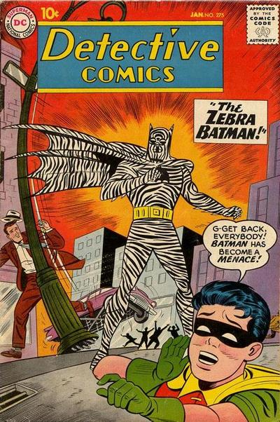Detective Comics 275 Cover: Zebra Batman