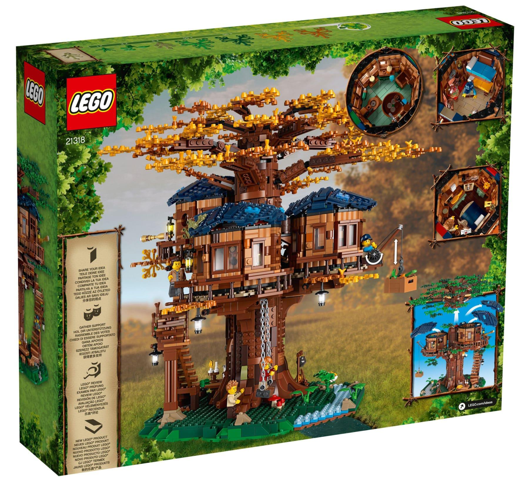 LEGO 21318 Baumhaus Box Rückseite
