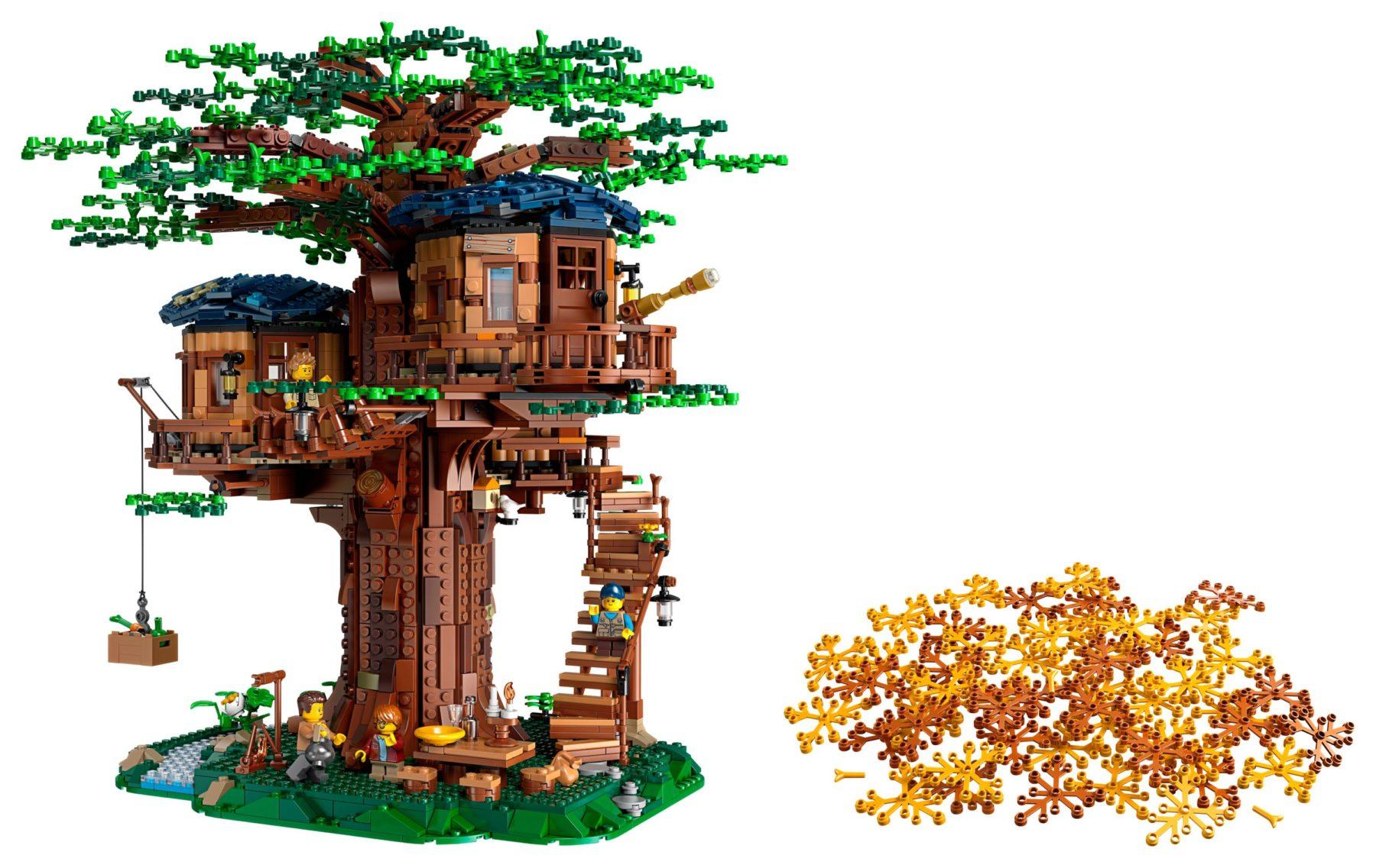 LEGO 21318 Baumhaus + Herbstlaub