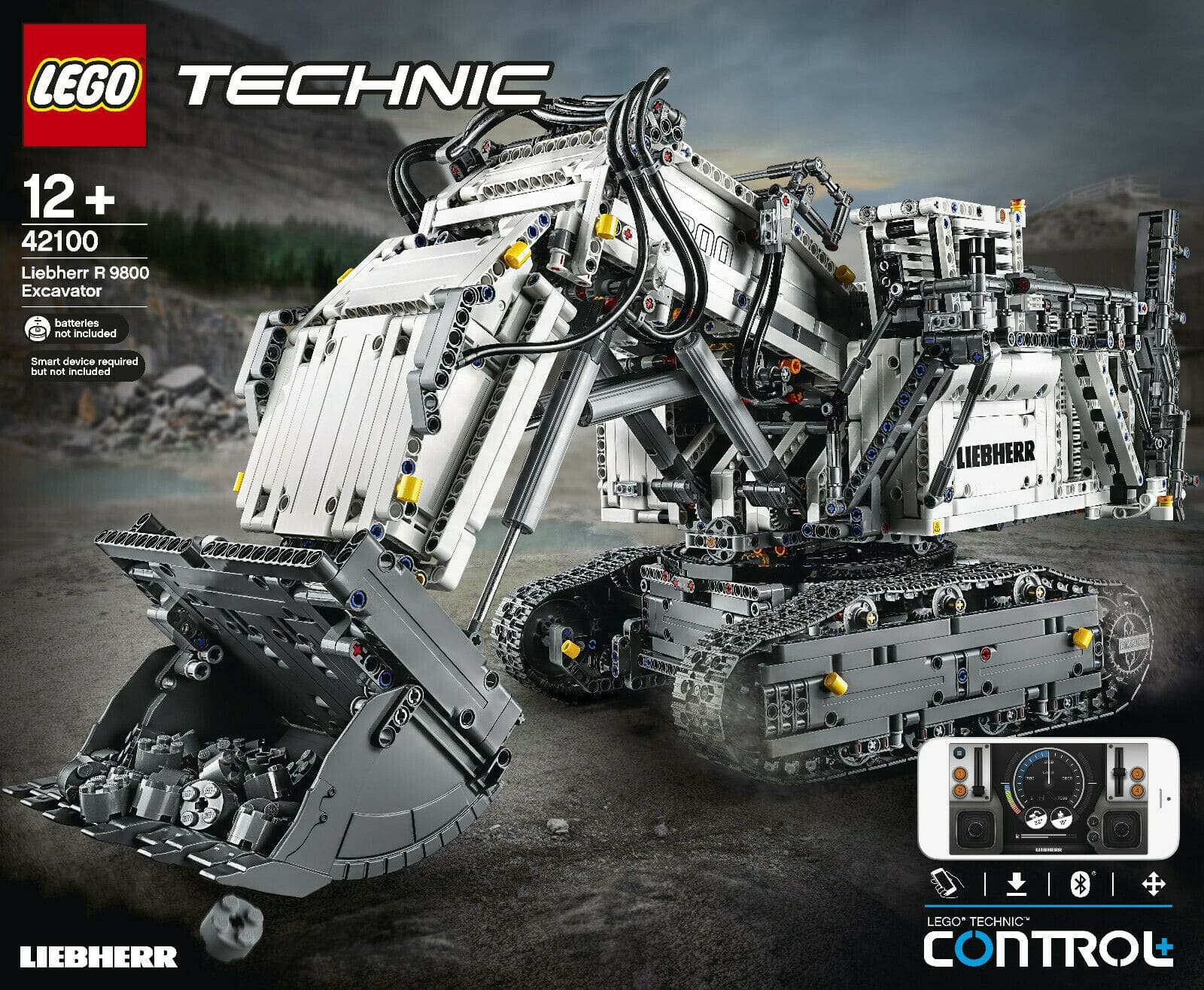 LEGO Technic 42100 Liebherr R9800 Boxart