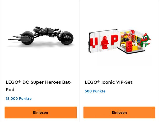 Zwei exklusive LEGO VIP-Sets